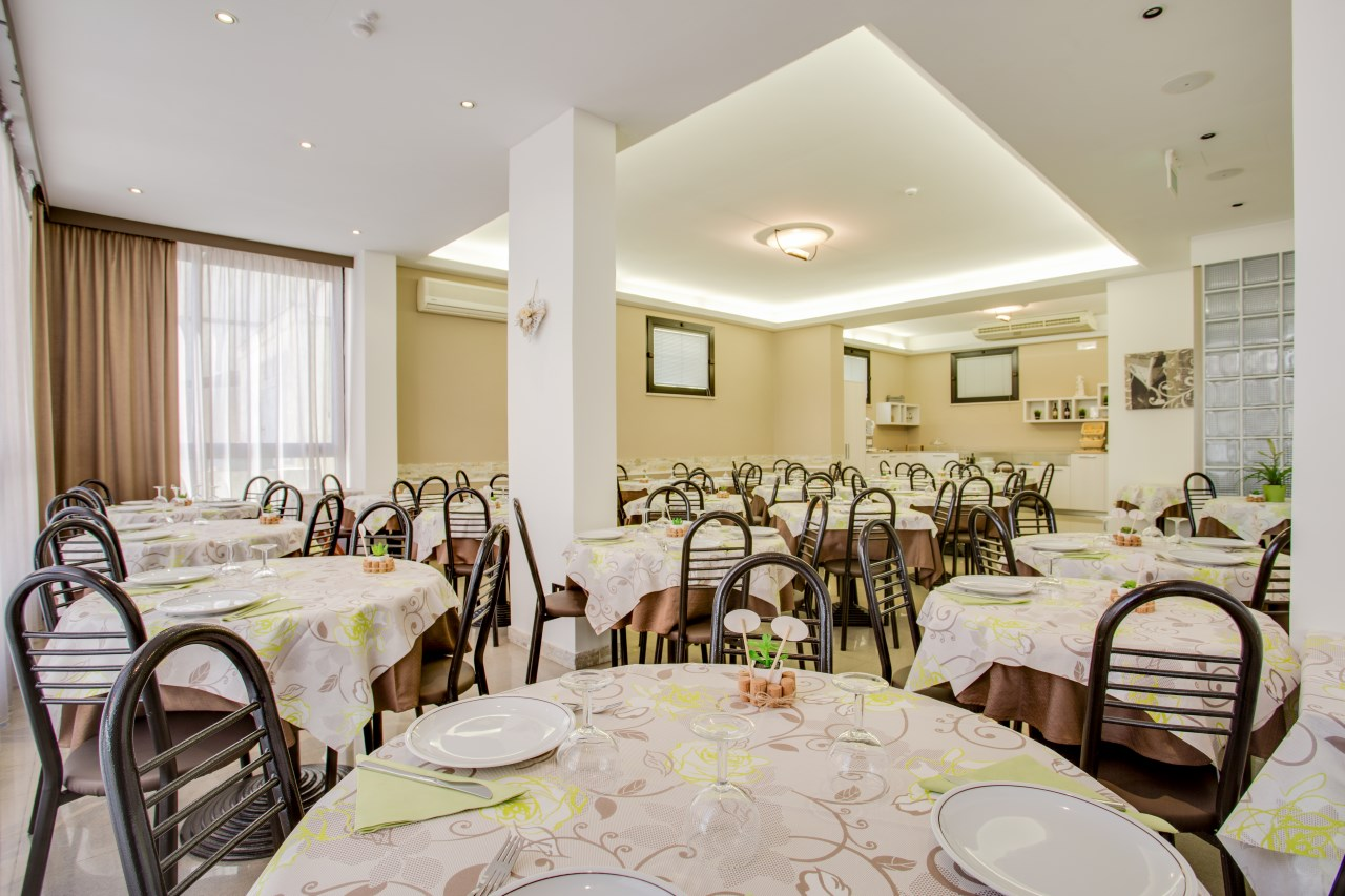 Sala da pranzo Hotel Villa dei Gerani Rimini
